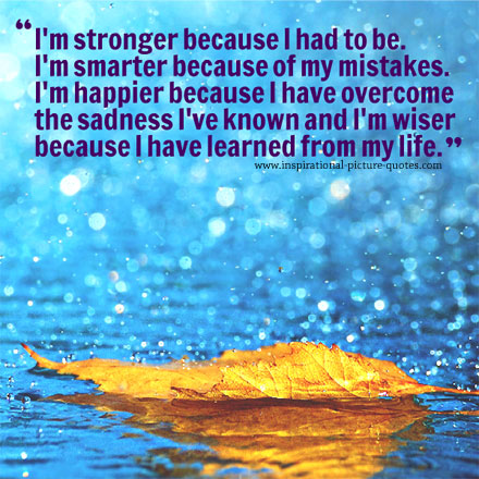 I Am Stronger Motivational Quote