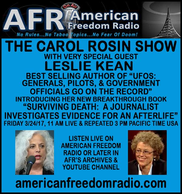 THE CAROL ROSIN SHOW LIVE: March 24, 2017   11am USA Pacific time