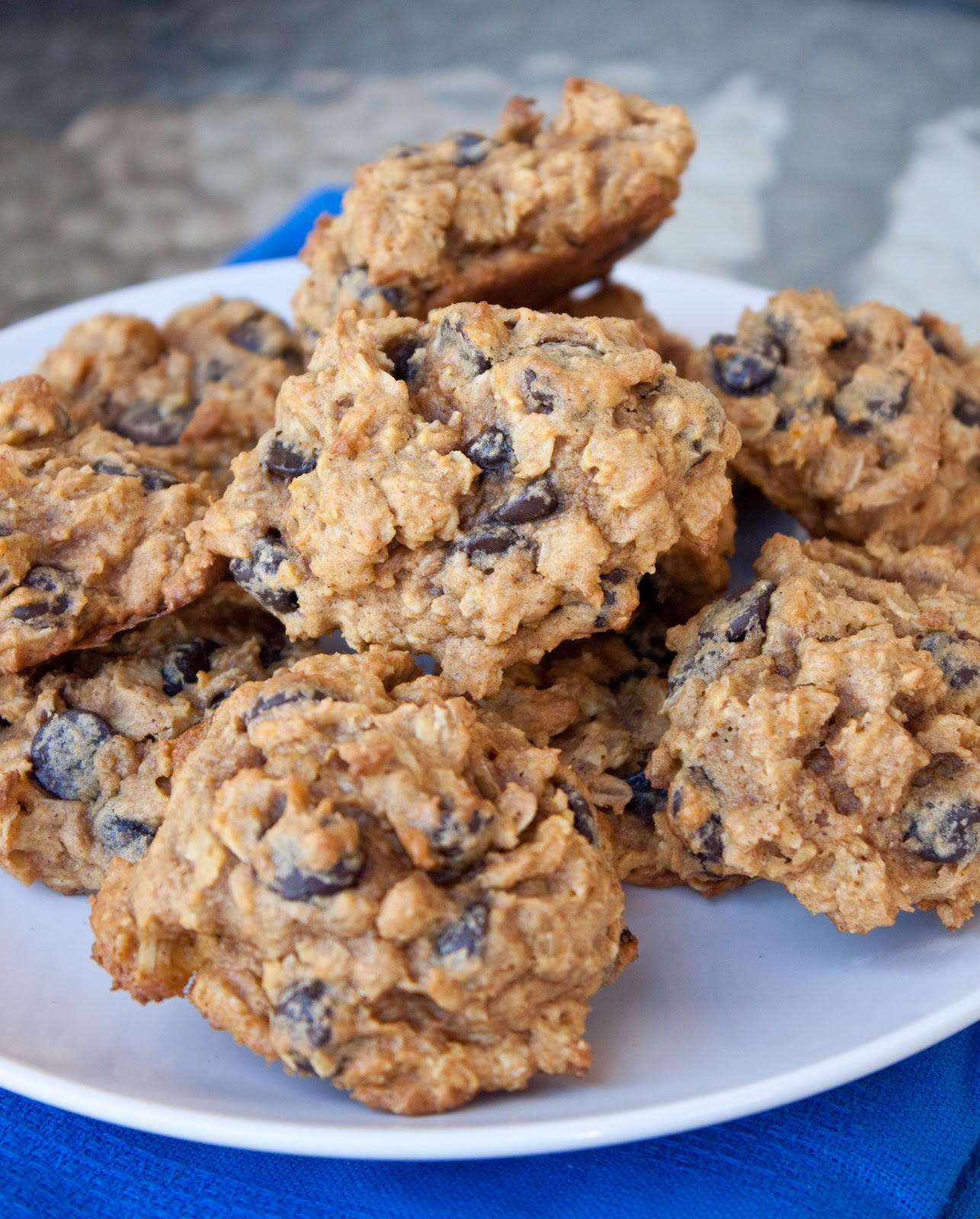 Pumpkin-Oatmeal Chocolate Chip Cookies