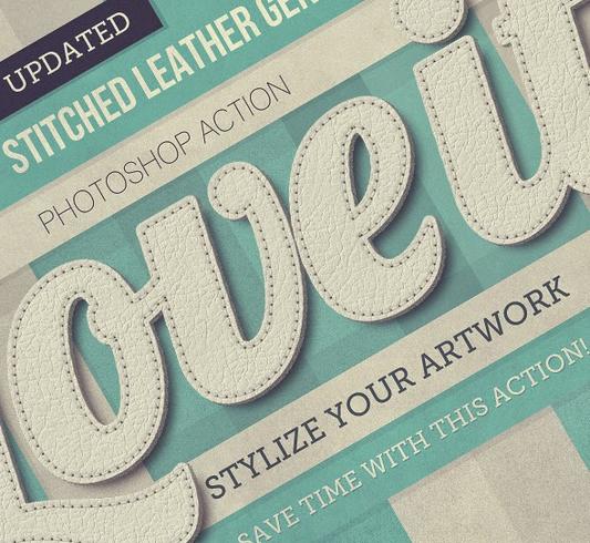 ستايلات فوتوشوب | تحويل الكتابة لِجلود 2014