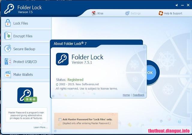 Download Folder Lock 7.5.1 – Khóa tập tin thư mục bằng mật khẩu