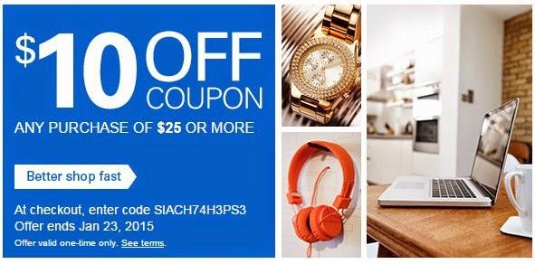 Coupon Code eBay $ 10 Save Off