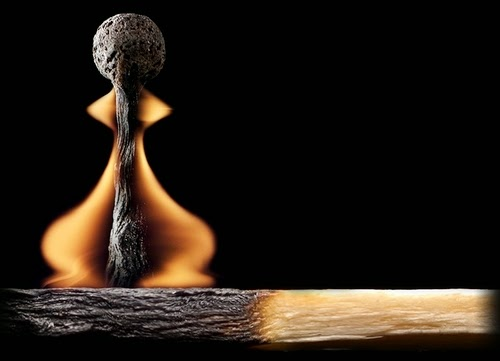 06-Match-Pawn-Flame-Russian-Photographer-Illustrator-Stanislav-Aristov-PolTergejst-www-designstack-co