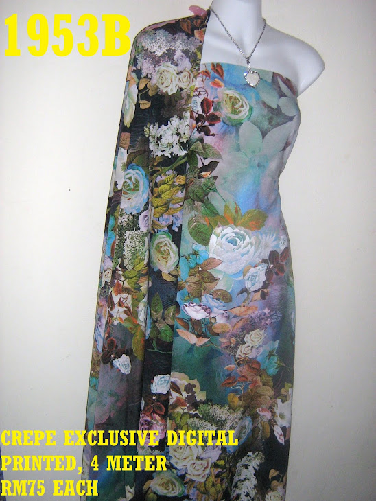CDP 1953B: CREPE EXCLUSIVE DIGITAL PRINTED, 4 METER