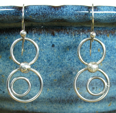 Cicada Silver:  Sterling silver bubble earrings