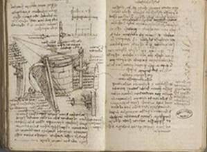 Turning the pages, Leonardo da Vinci
