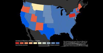 Influencia de los candidatos Obama y Rommey