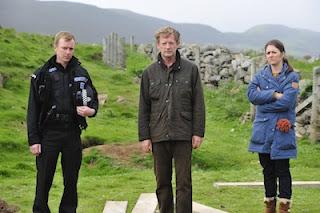 Shetland, BBC1, Sandy Wilson (STEVEN ROBERTSON), Jimmy Perez (DOUGLAS HENSHALL), Tosh (ALISON O'DONNELL)
