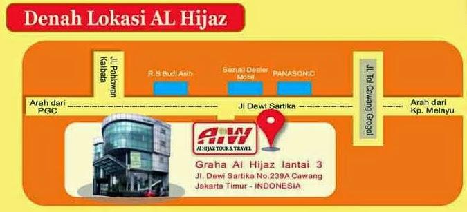 PT. Alhijaz Indowisata Jl. Dewi Sartika Raya no. 239A Cawang - Jakarta Timur, 13630
