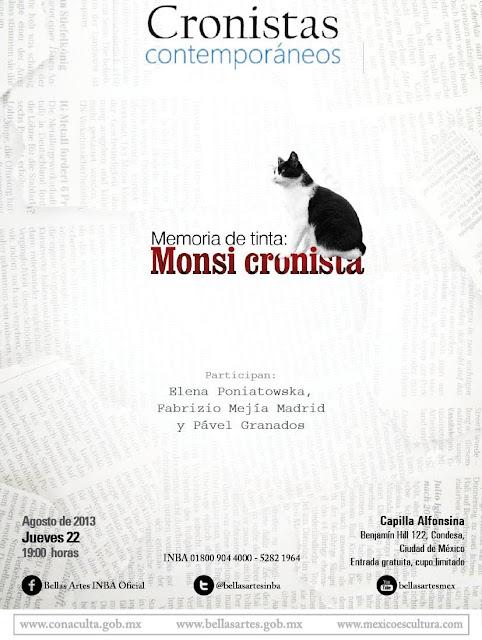 """Recuerdan obra de Monsiváis en el ciclo """"Cronistas contemporáneos"""" en la Capilla Alfonsina"""