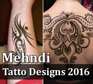 Latest Mehndi Tattoos Designs 2016-2017 For Girls