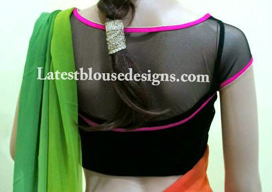 net blouse models