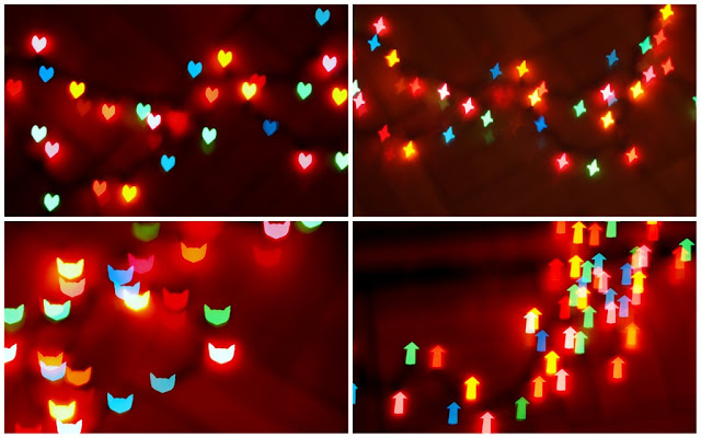 how to take heart, cat, star, arrow and different shaped bokeh photos