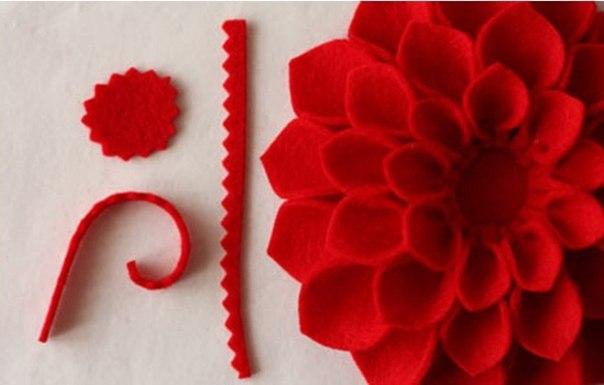 HandMadera: Felt flower brooch tutorial