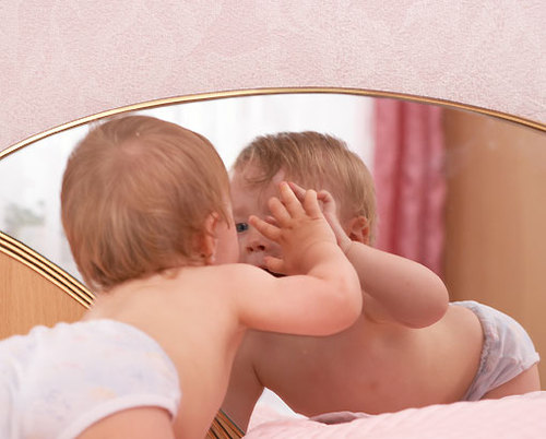 El club de la familia la evoluci n del beb y su entorno for Espejo para ver al bebe