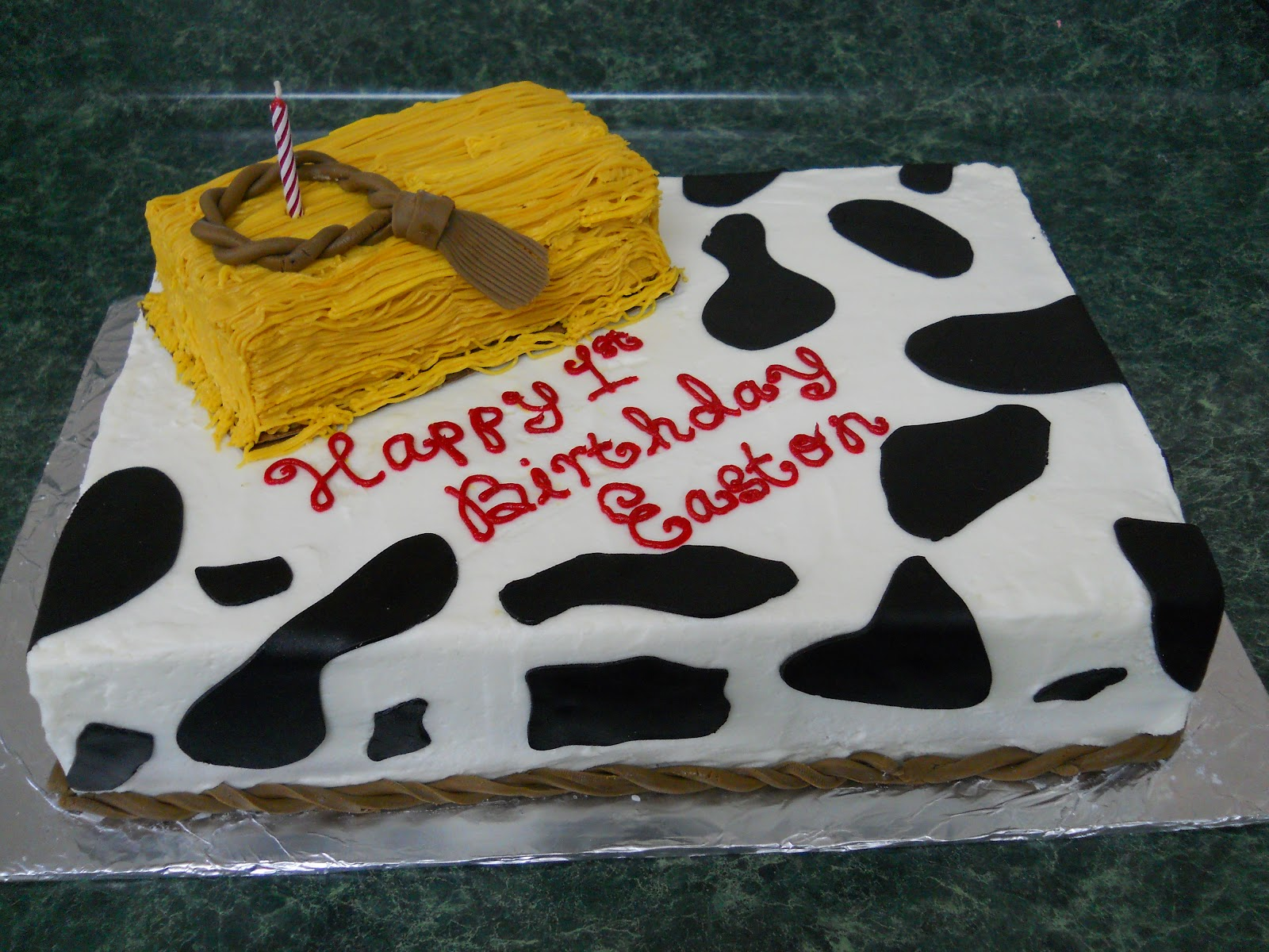 The Happy Caker Flower Garden And Western Themed 1st Birthday Cake
