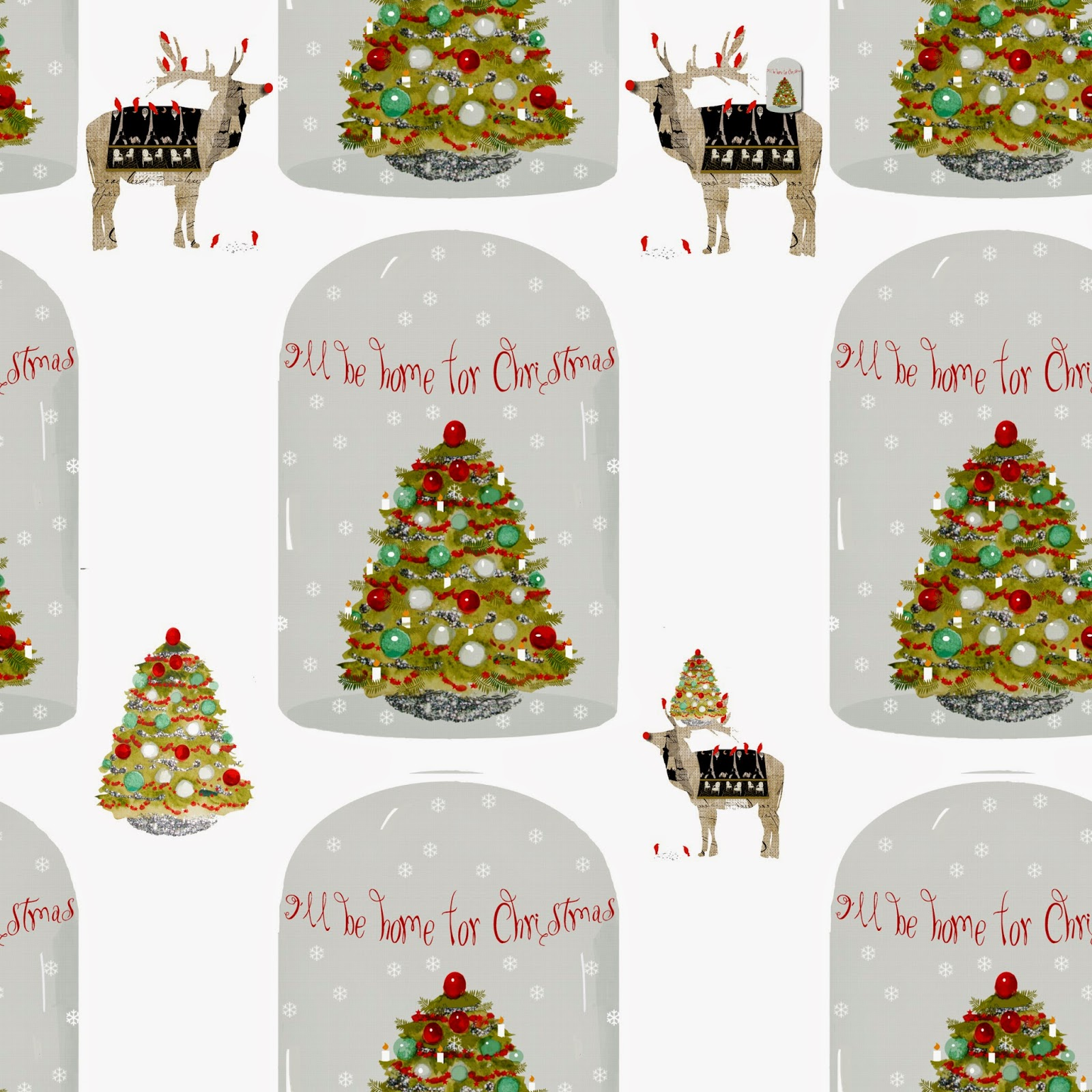 French Script Fabrics: Painting Christmas