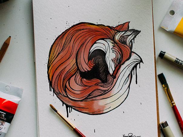 kyson dana alphabet animal illustrations-1