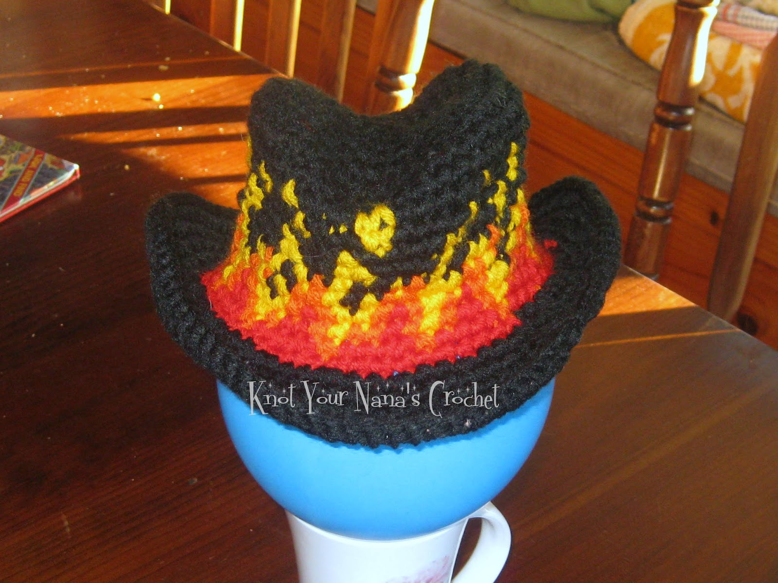 Knot Your Nana\'s Crochet: Crochet Flaming Cowboy Hat. Basic tutorial ...