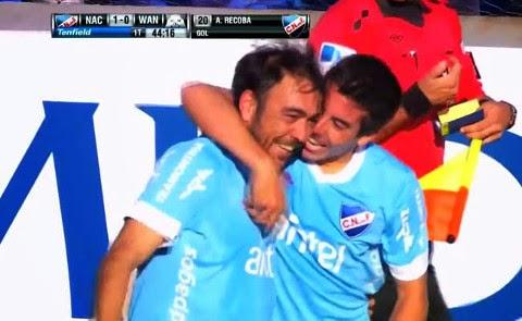 alvaro recoba gol calcio d'angolo nacional montevideo wanderers