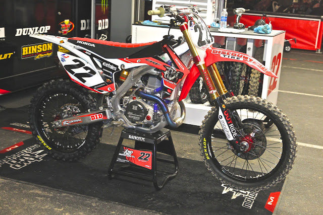 The 2013 Supercross Works Bikes