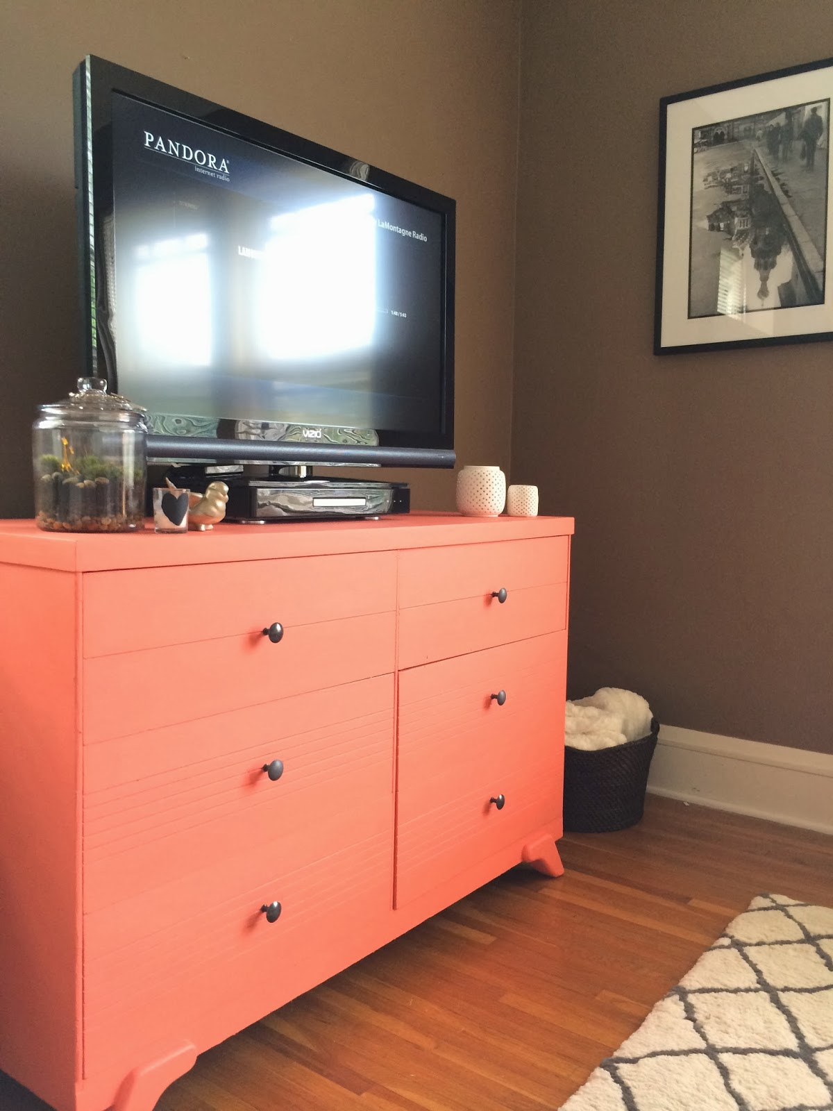 project dresser to tv stand