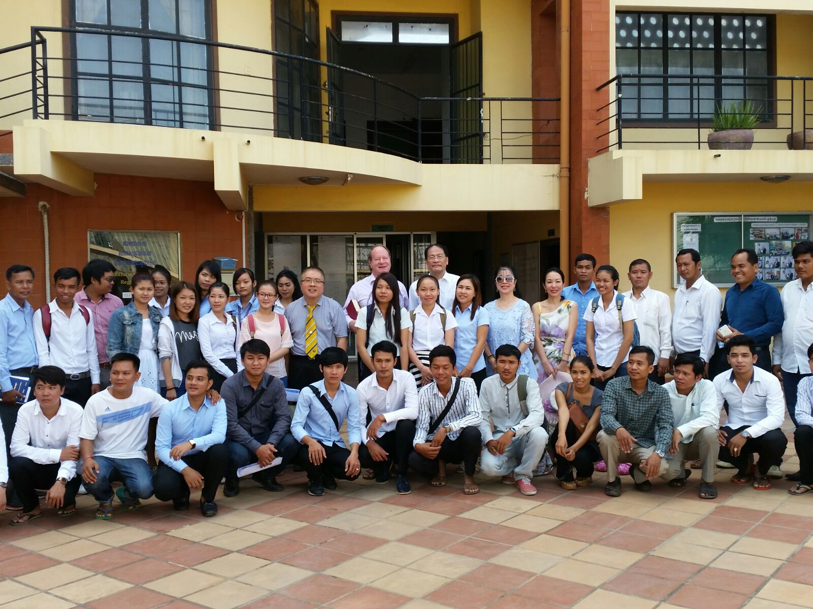 16/06/2016 Dr TK Ho and Dr Ng visiting Cambodia campus.