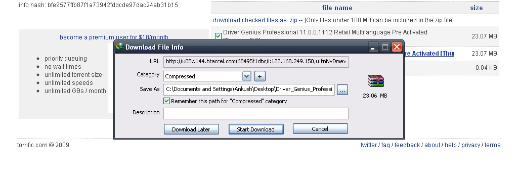 how to start utorrent at a certain time
