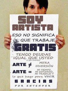 artista, reivindicación, exigencia, cartel