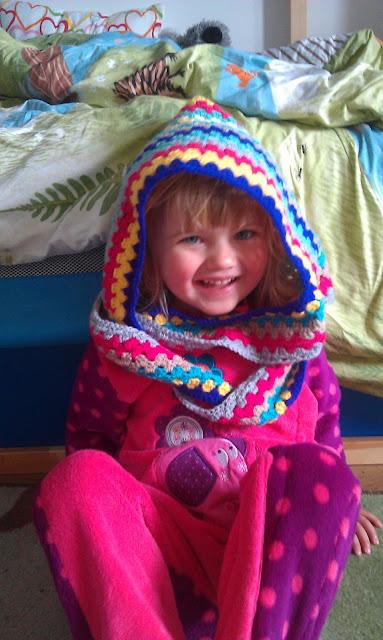 Crochet Granny Stripe Hood