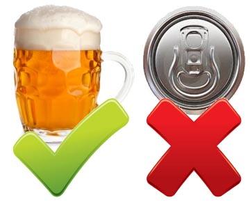 Pozor na     pivo v plechovkách