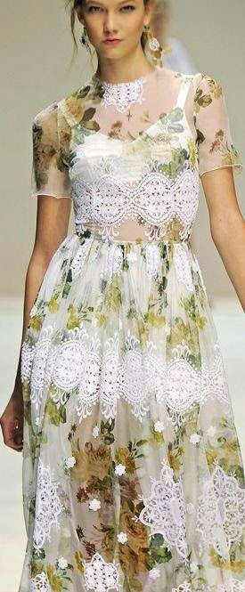 dress with crochet elements