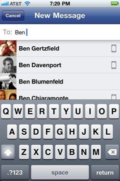 Facebook Messenger chat