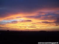 Foto dell'alba sui campi agricoli di Bastiglia (MO)