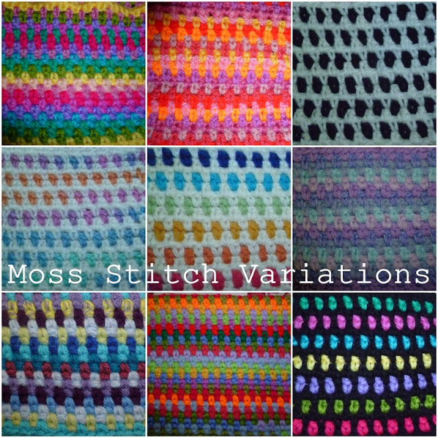 Crochet Stitches Variations : Susan Pinner: CROCHET:Moss Stitch and Variations