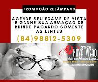 AGENDE SEU EXAME DE VISTA E GANHE SUA ARMAÇÃO DE BRINDE, PAGANDO SOMENTE AS LENTES. (84) 98812-5309