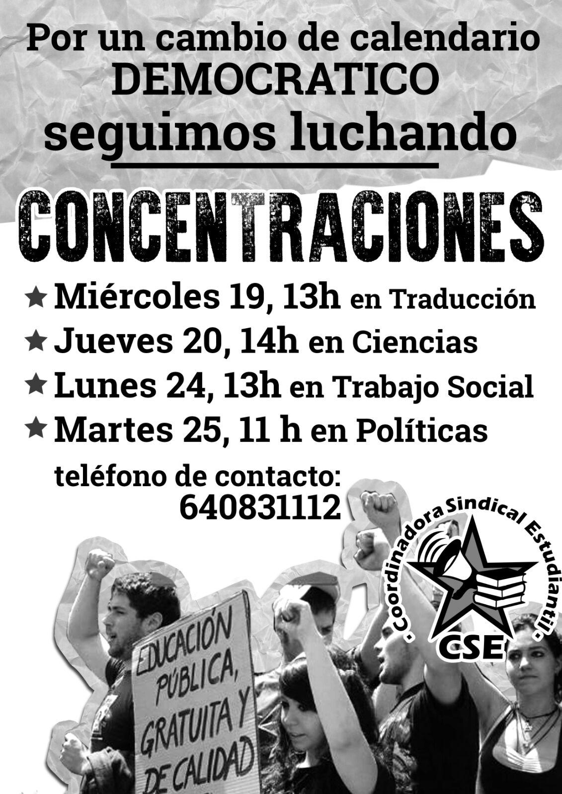 ¡Por un cambio de calendario democrático! Concentraciones en Fuentenueva
