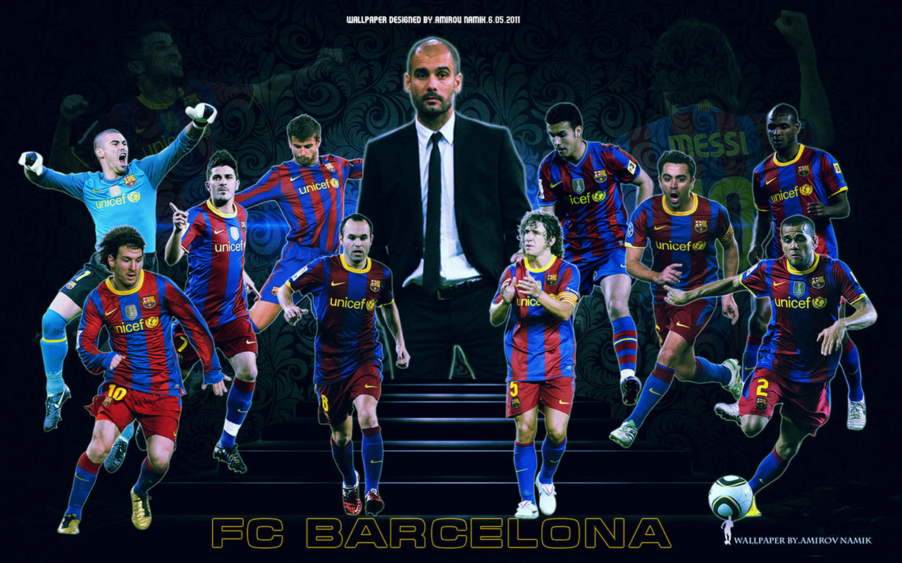 FC Barcelona Team Wallpaper