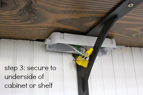 under cabinet lighting no wires. Step 3: Using Wood Screws Mounting The Wire Module To Underside Of Cabinet. Determine Placement Based On Your Light Fixtures And Then Snap Cover. Under Cabinet Lighting No Wires
