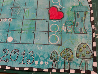Art Journal Calendar  page - February