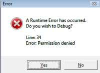 Runtime error Internet Explorer