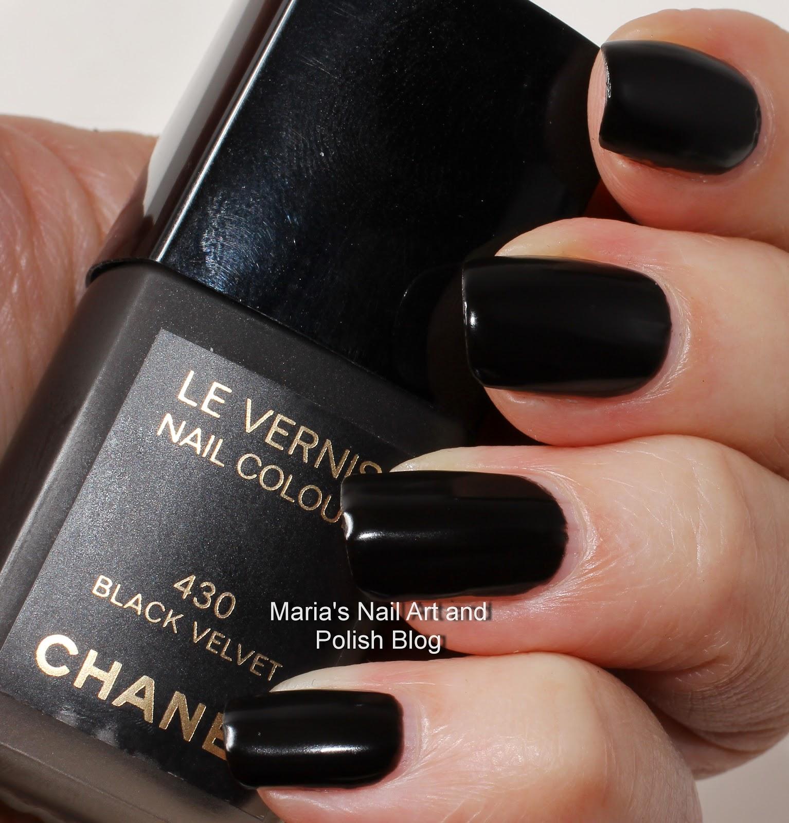 Marias Nail Art And Polish Blog: Chanel Black Velvet 430