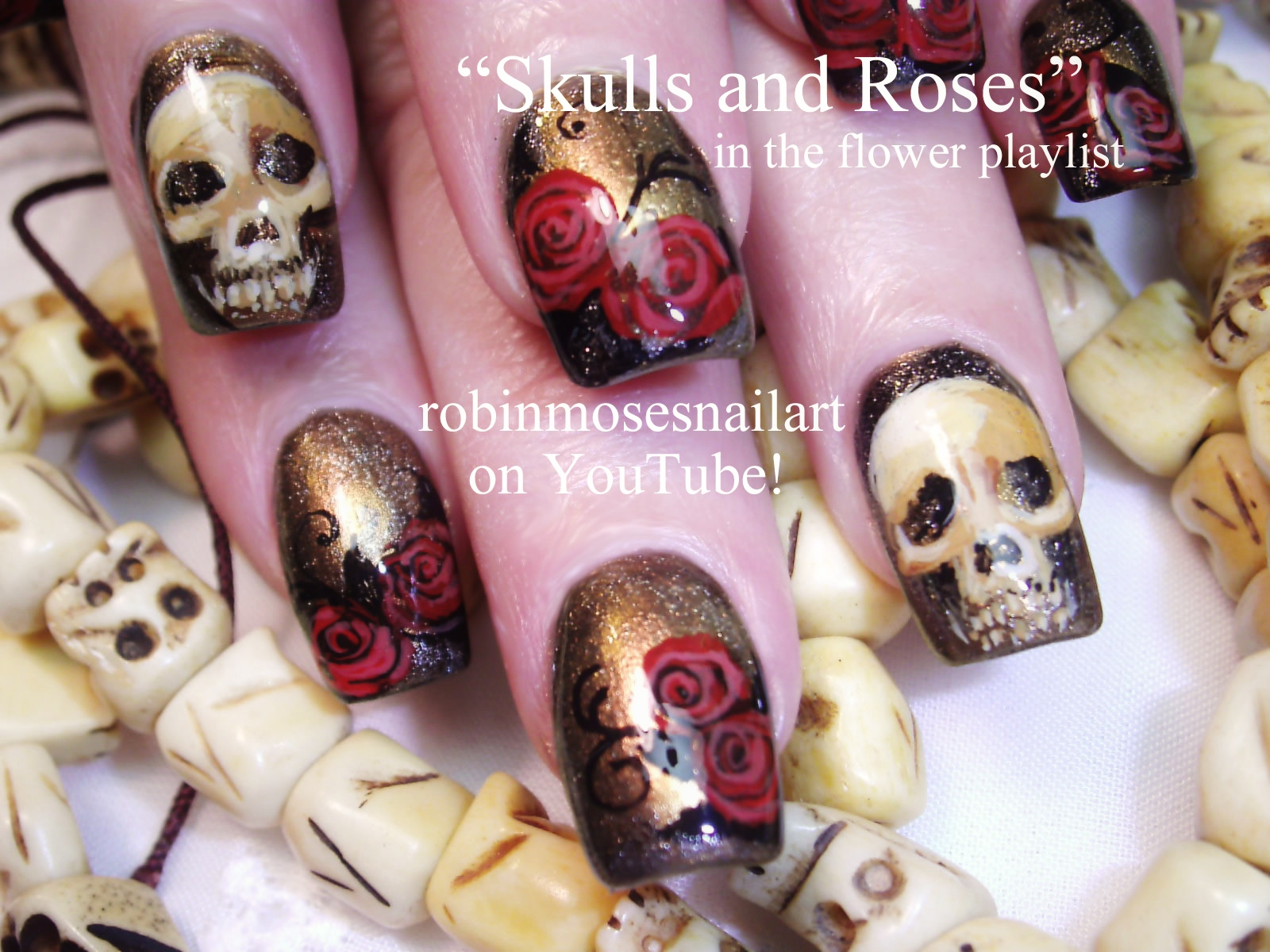 Nail Art Design: freaky friday nails, tibetan skull nails, skull ...