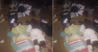 See How These Lagos Corpers Were Forced To Sleep In Their Camp