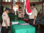 UMAR DJABUMONA  saat pelantikan sebagai Ketua kwarcab Kabupaten Kepulauan Aru