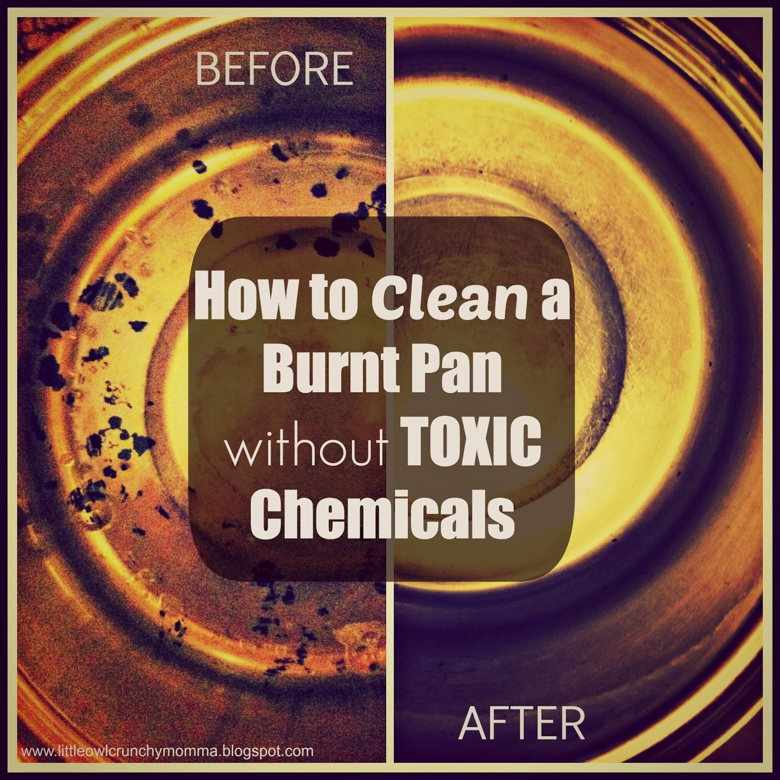 how to clean burnt pan with vinegar