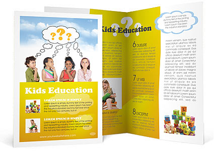 Brochure Templates For Kids. 15 free corporate bifold and trifold ...