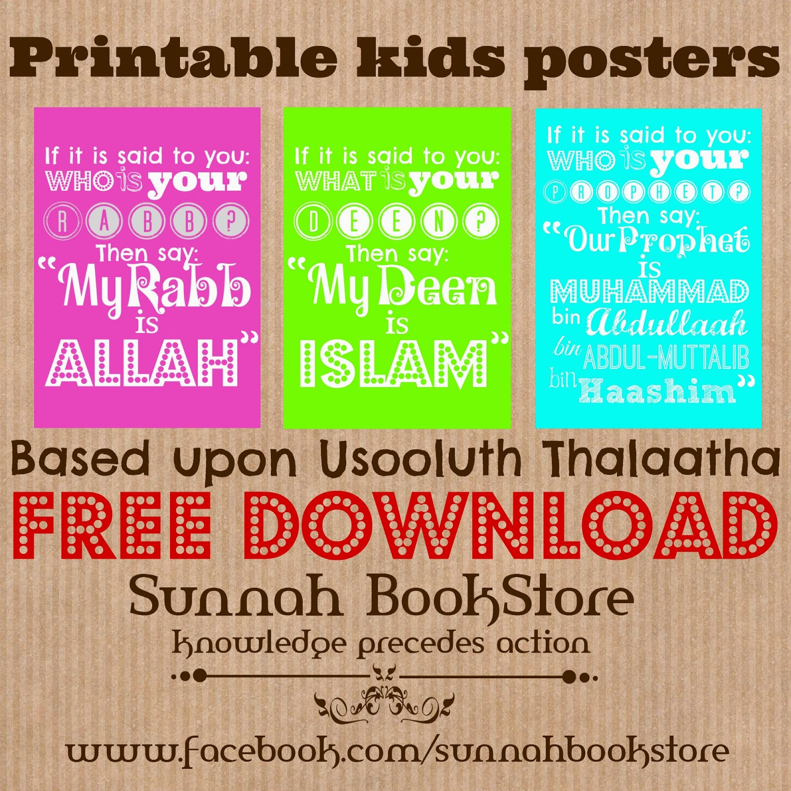 free printable kids poster based upon usooluth thalaatha