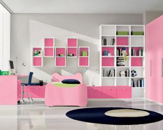 ห้องนอนสีชมพู