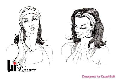bocetos pañuelos de moda